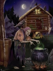 картинка из сказки Баба Яга
