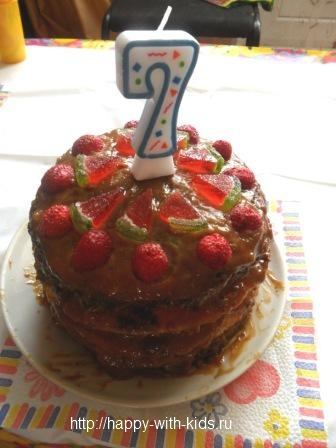 детское меню торт на день рождения